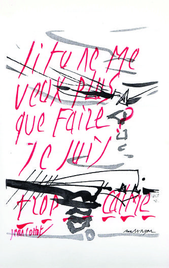Des causes perdues, nouvelles. Oeuvres de Julius Baltazar, calligraphies de Jean Cortot.